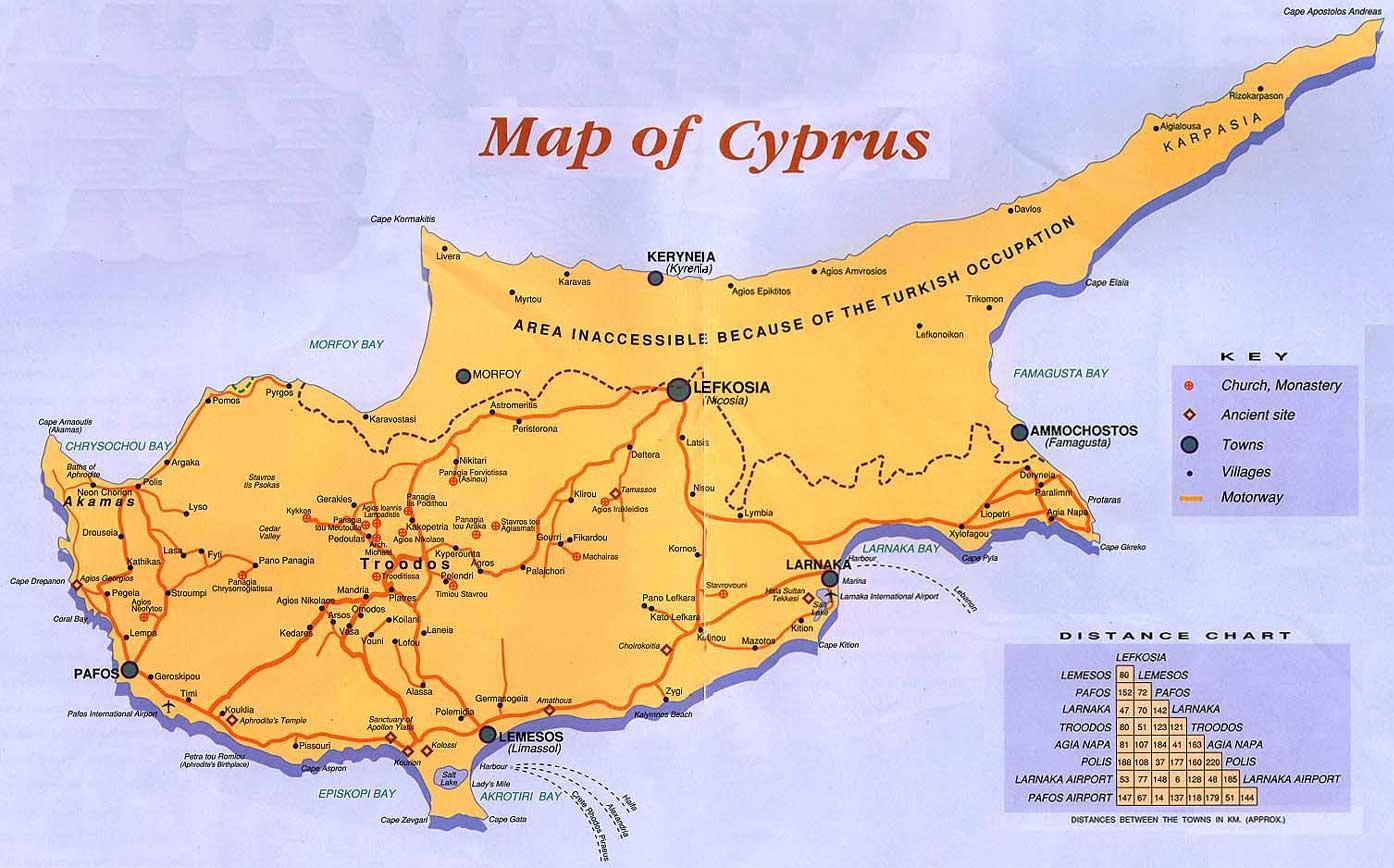 Karta Famagusta Cypern.Cypern Semester Karta Cypern Semester Destinationer Karta Sodra