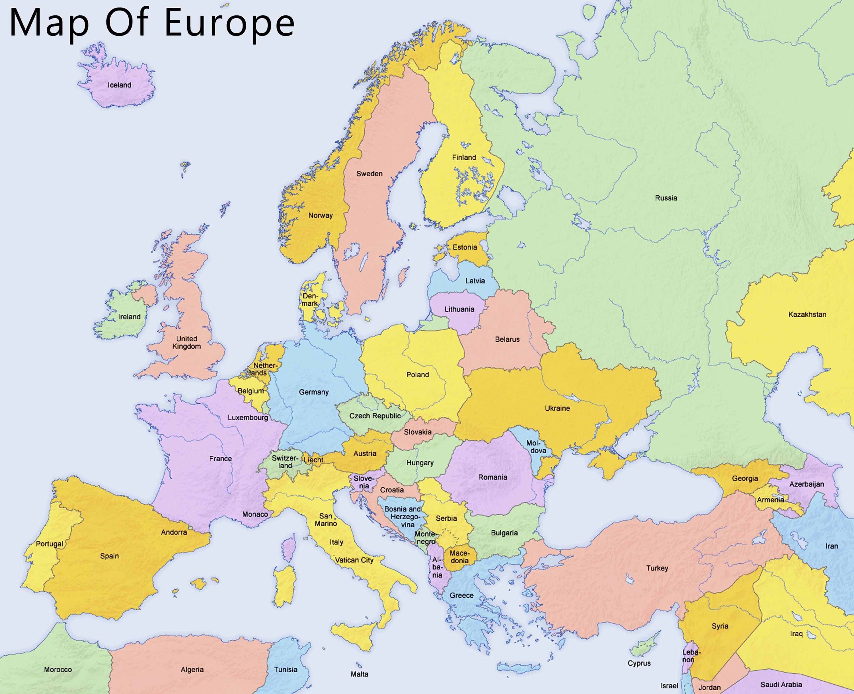 Karta Lander I Europa.Karta Over Cypern Och Omgivande Lander Karta Over Cypern Och