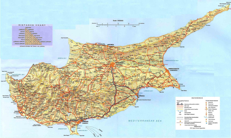 Karta Over Cypern Resorts Karta Over Cypern Semester Resorts