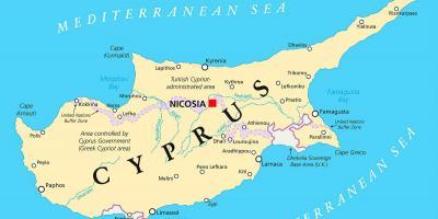 Karta Cypern Flygplats.Cypern Map Kartor Cypern Sodra Europa Europa